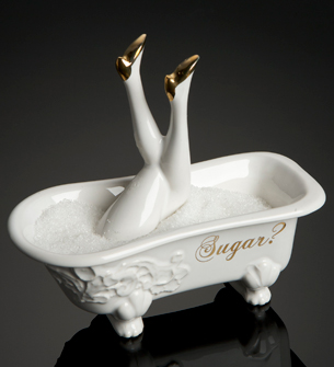Suagr Bath with legs spoon