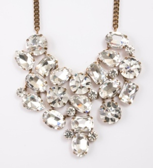 Oversized crystal necklace by Martine Wester